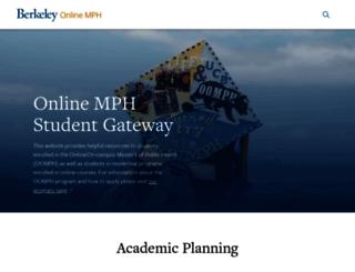 onlinemph.berkeley.edu screenshot