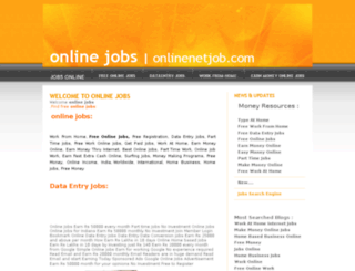 onlinenetjob.com screenshot