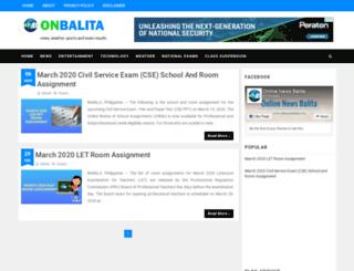 onlinenewsbalita.com screenshot