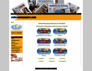onlinenewspapers.com screenshot