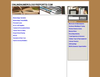 onlinenumerologyreports.com screenshot