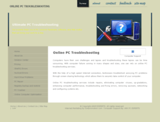 onlinepctroubleshooting.com screenshot