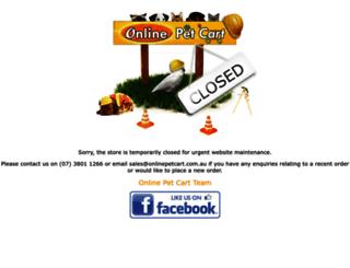 onlinepetcart.com.au screenshot