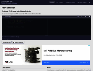 onlinephpfunctions.com screenshot