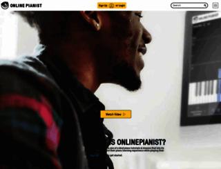 onlinepianist.com screenshot