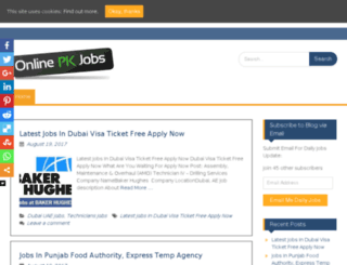 onlinepkjobs.com screenshot