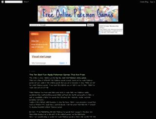 onlinepokemongames.blogspot.com screenshot