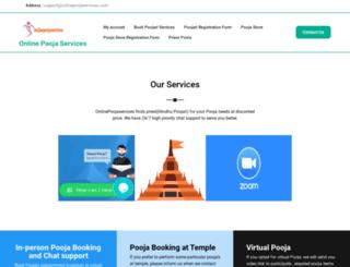 onlinepoojaservices.com screenshot
