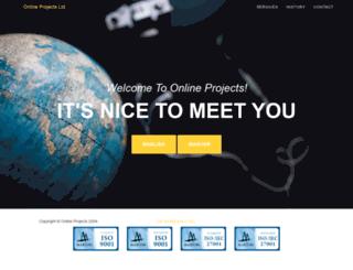 onlineprojects.hu screenshot