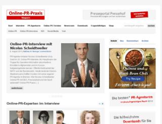onlineprpraxis.de screenshot