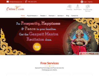 onlinepuja.com screenshot