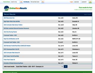 onlineraceresults.com screenshot