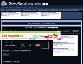onlineradio2.com screenshot