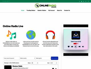 onlineradiolive.com screenshot