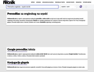 onlinerecnik.com screenshot