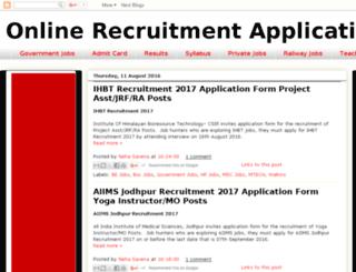 onlinerecruitmentapplication.in screenshot