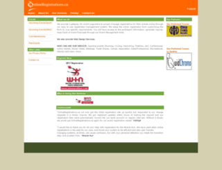 onlineregistrations.ca screenshot