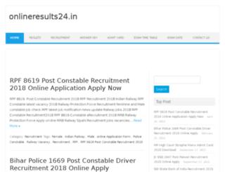 onlineresults24.in screenshot