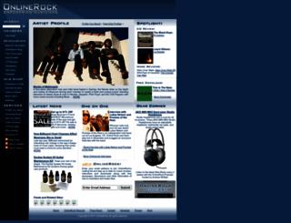 onlinerock.com screenshot