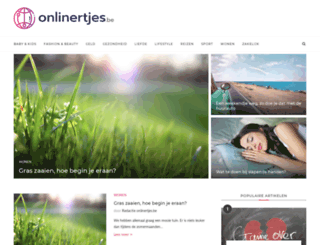 onlinertjes.be screenshot