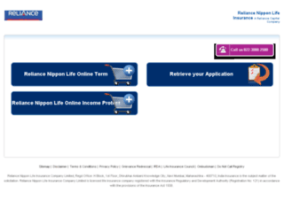 onlinesales.reliancelife.com screenshot