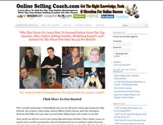 onlinesellingcoach.com screenshot