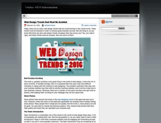 onlineseoinfo.wordpress.com screenshot
