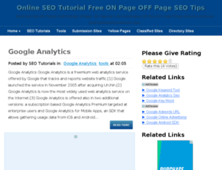 onlineseotutor.com screenshot