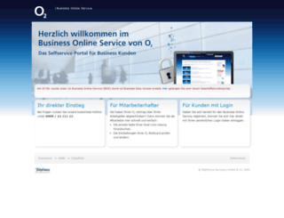 onlineservice.o2business.de screenshot