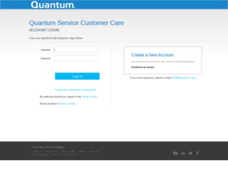 onlineservice.quantum.com screenshot