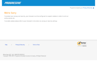 onlineservice6.progressive.com screenshot