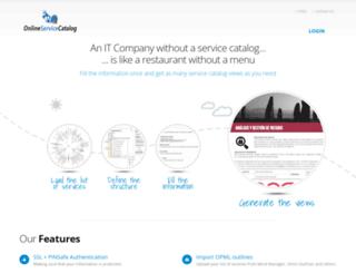 onlineservicecatalog.com screenshot