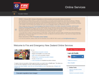 onlineservices.fire.org.nz screenshot