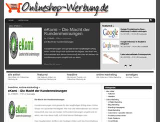 onlineshop-werbung.de screenshot