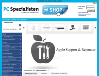 onlineshop.pc-spezialisten.com screenshot