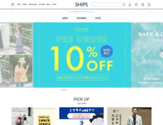 onlineshop.shipsltd.co.jp screenshot