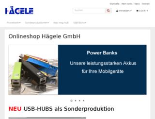 onlineshopping-haegele.de screenshot