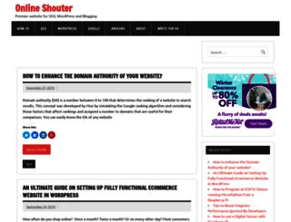 onlineshouter.com screenshot