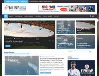 onlinesoccermanager.co.uk screenshot
