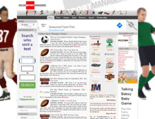 onlinesportmanagers.com screenshot