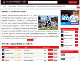 onlinesportsbookchief.com screenshot