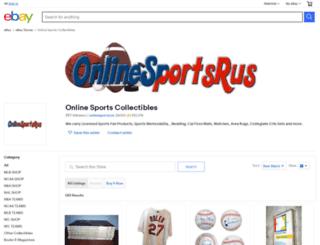 onlinesportscollectibles.com screenshot