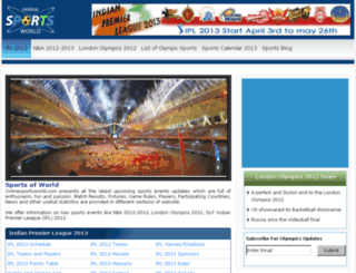 onlinesportsworld.com screenshot