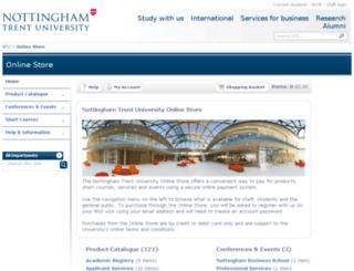 onlinestore.ntu.ac.uk screenshot