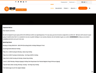 onlinestore.securemetric.com screenshot