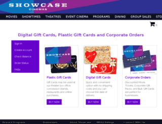 onlinestore.showcasecinemas.com screenshot
