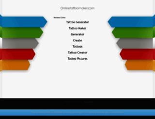 onlinetattoomaker.com screenshot