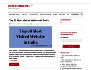 onlinetechsecret.com screenshot