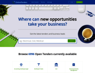 onlinetenders.co.za screenshot