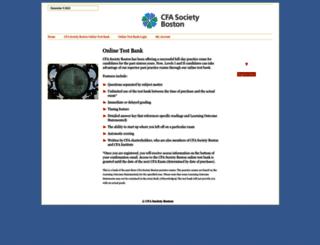 onlinetestbank.bsas.org screenshot